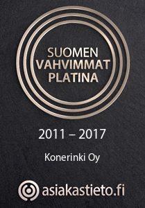 Suomen Vahvimmat Platina 2011-2017 Konerinki Oy - Asiakastieto.fi