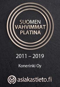 Suomen Vahvimmat Platina 2011-2019 Konerinki Oy - asiakastieto.fi