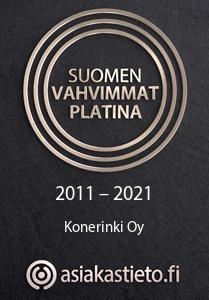 Suomen Vahvimmat Platina 2011-2021 Konerinki Oy - asiakastieto.fi
